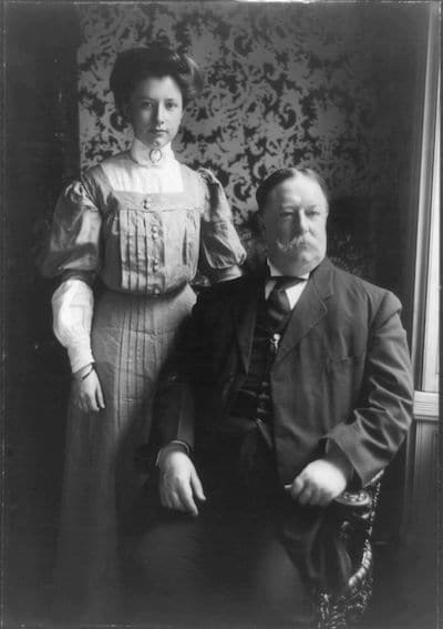 President Taft and his daughter resemble my characters.