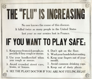 Readers are interested in the 1918 influenza. Put it on your upmarket fiction manuscript wish list.