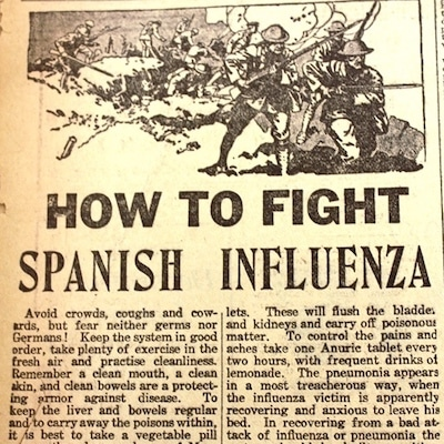 1918 Influenza Pandemic: Spanish Flu Cures