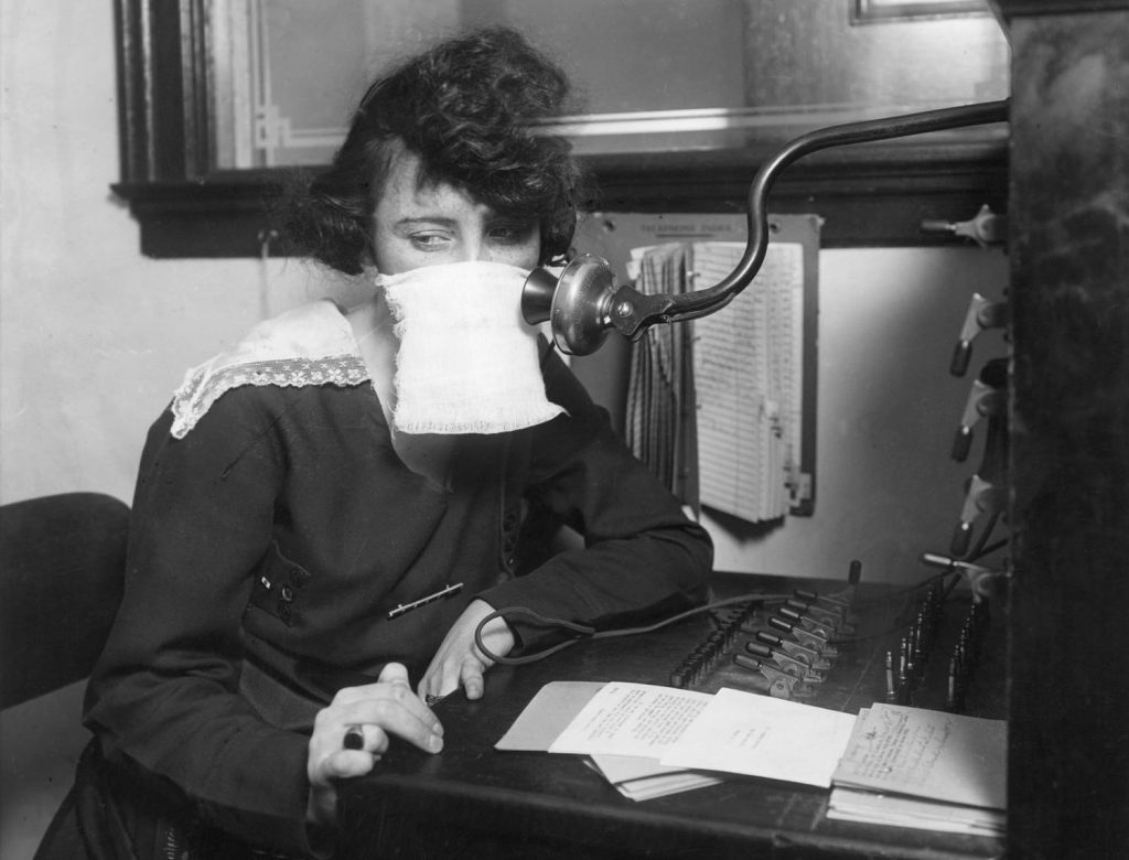 Telephone operators were as essential during Spanish Flu as internet is in 2020.