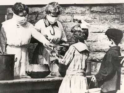 relief work during 1918 Spanish influenza