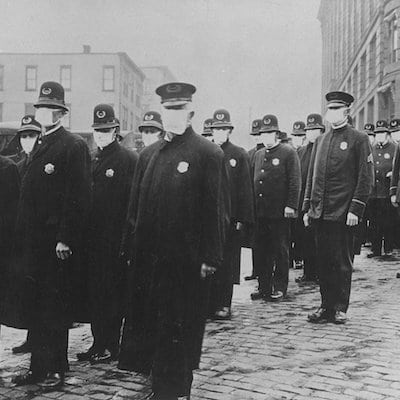 police at risk during influenza of 1918 Spanish influenza